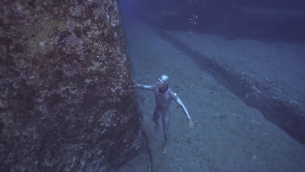 「与那国島海底遺跡 Monument of Yonaguni Island : OCEAN TRAVELLER RYUZO SHINOMIYA」スクリーンショット 3