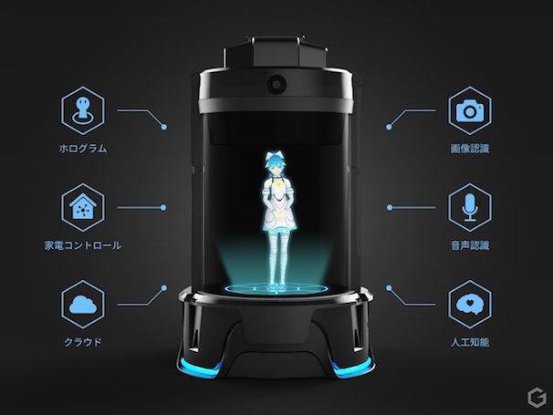 ホログラムコミュニケーションロボット「Gatebox」 2