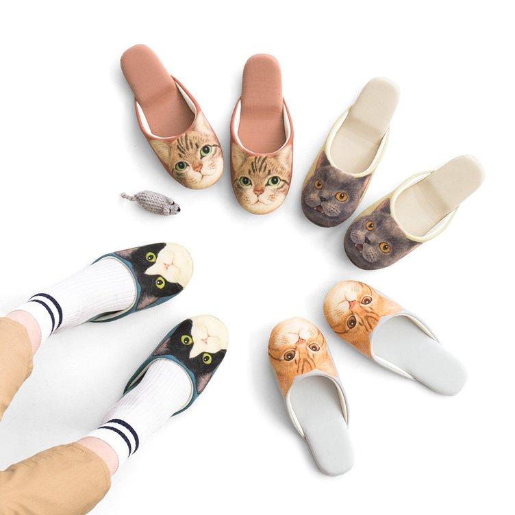 「猫足スリッパ」が履き心地ふわふわで癒される… 忍び足ヒントに開発