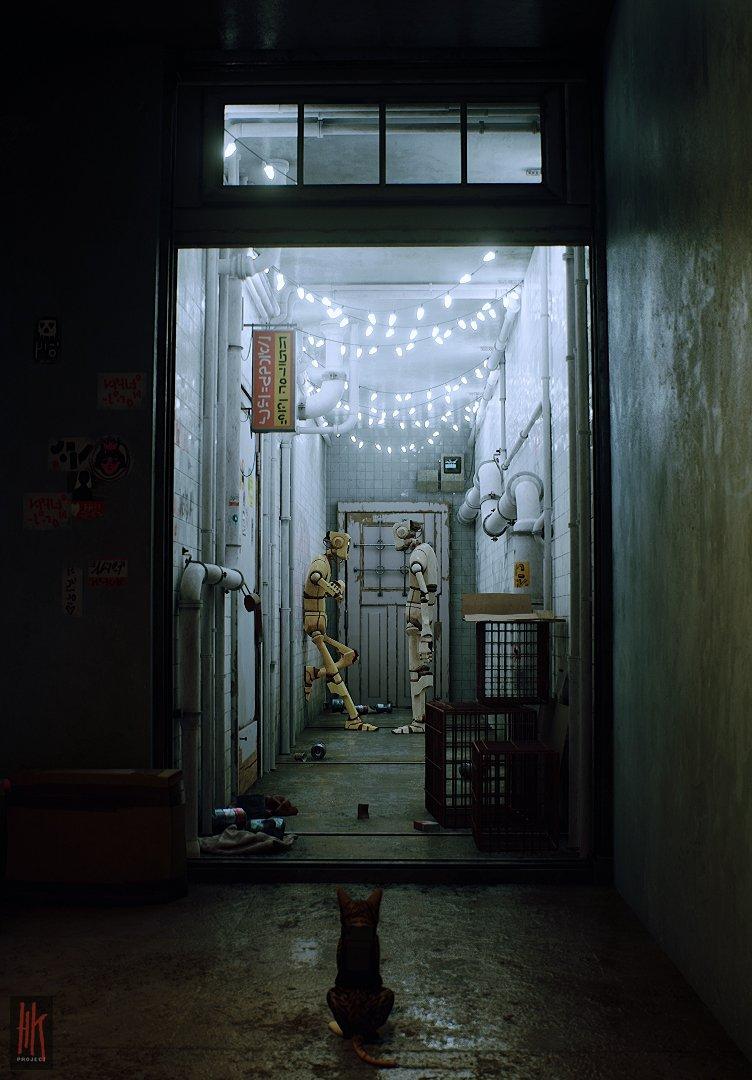 実写レベルの映像美! 九龍城風の街を猫が歩くゲームが超ディストピア