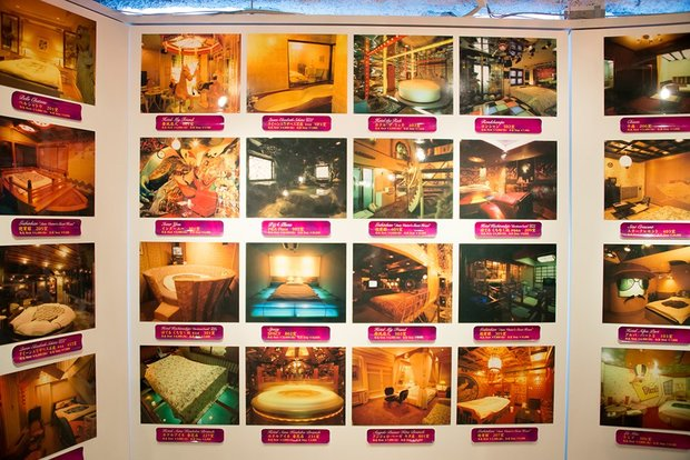 「『神は局部に宿る』都築響一 presents エロトピア・ジャパン展」ラブホテル写真