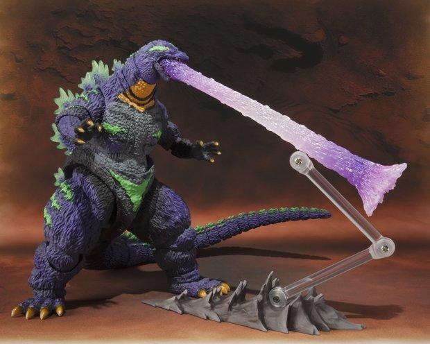 「S.H.MonsterArts ゴジラ feat.EVA-01」