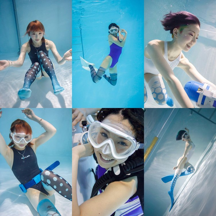 「水中ニーソ」新モデルに台湾美女、ダンサー、ショーモデル! グラビア解禁