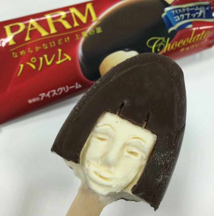 アイスクリーム評論家によるアイス彫刻! おかっパルムが不気味すぎ…