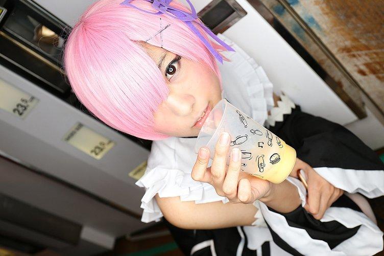 【写真】アニクラのコスプレイヤー ヒメチャニアファミリーさん(『リゼロ』ラム)