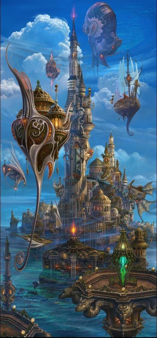 ファンタジーアートの巨匠「内尾和正の世界展」FF、神撃のバハムートなど