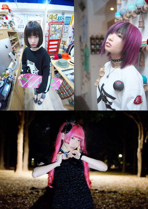 左上:吉田凜音さん、右上:椎名ぴかりんさん、下:ようなぴさん