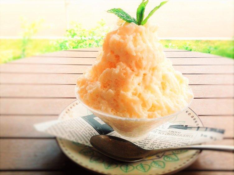 魚沼産コシヒカリのライスミルクかき氷 お米の甘みとつぶつぶ触感!