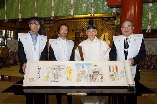 「こち亀絵巻」が神田明神に奉納されたあとに完結が発表された。
