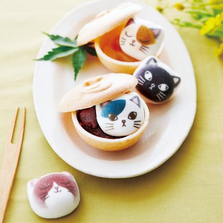 """フェリシモ猫部の最新作は""""猫鍋""""を再現した「ミニ和風ニャシュマロ 〈猫ほうずい〉最中の会」"""