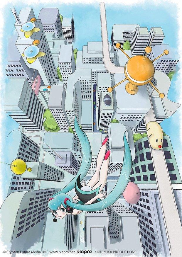 「手塚治虫タッチの初音ミク」イラスト 2