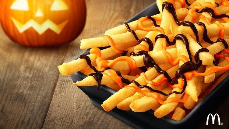 マック「チョコポテト」ハロウィン仕様で復活! パンプキン&チョコソース
