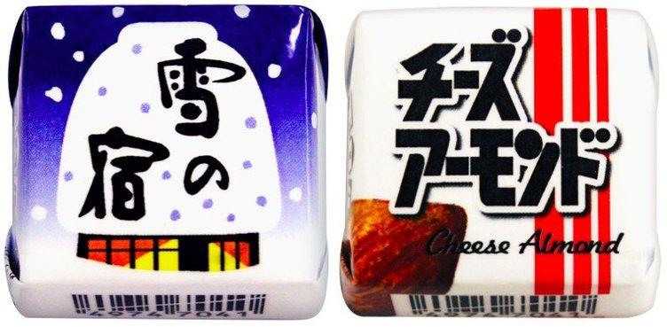 チロルチョコ「雪の宿」「チーズアーモンド」味! 定番お菓子とコラボ
