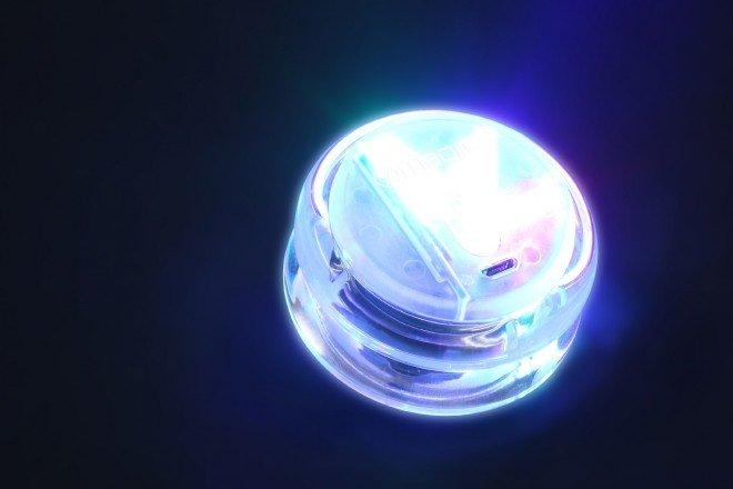 LEDで光るヨーヨー「7-Magic」が眩しすぎる! Bluetoothで自在に制御
