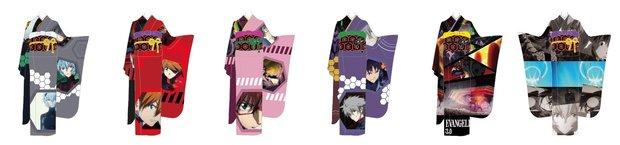 「EVANGELION × Full Graphic Kimono」