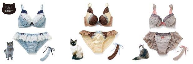 「ときめきいっぱい なりきりにゃんこ 猫好きガールの愛され胸 ブラ&ショーツの会」1