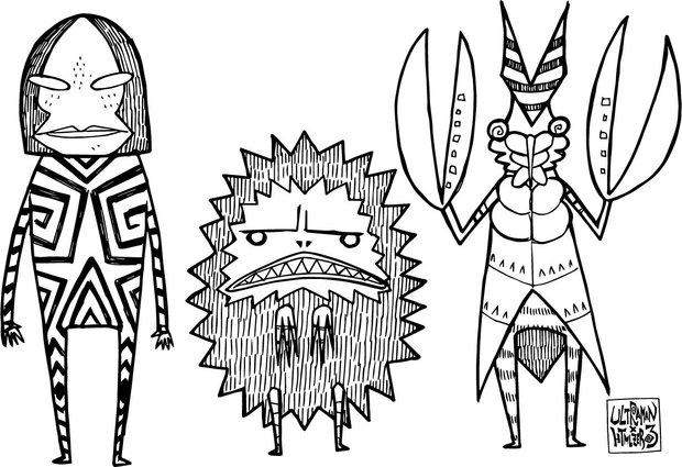 ウルトラマンゆるかわグッズ セカオワのアートワーク担当 Sonic描き