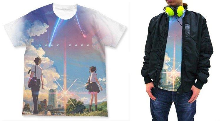 『君の名は。』フルグラフィックTシャツ キービジュアルを大胆デザイン