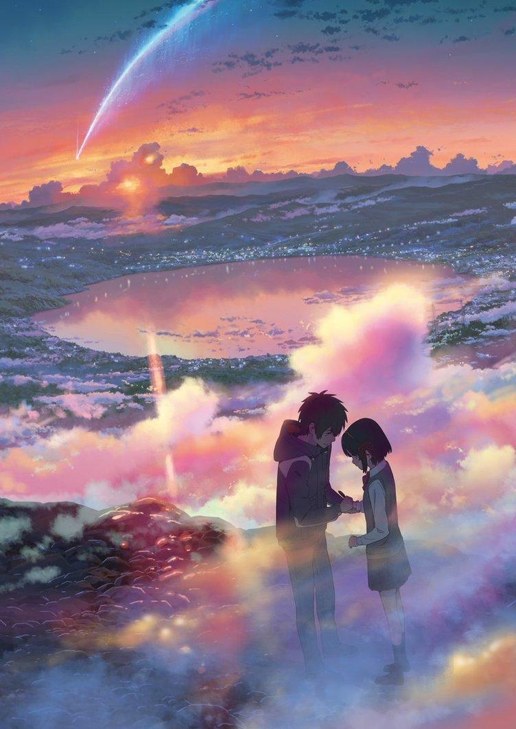 『君の名は。』描き下ろし新ビジュアル公開 かたわれ時の瀧と三葉