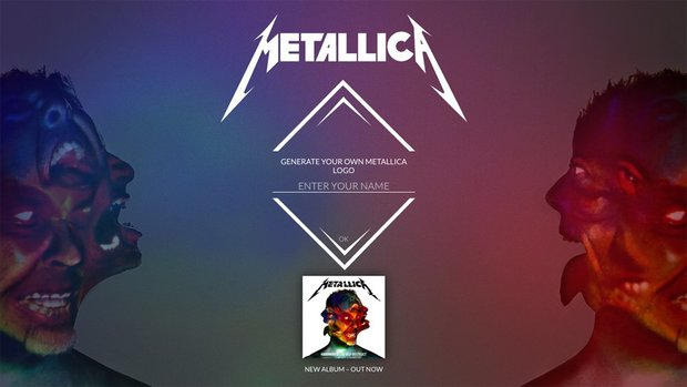 Generate-your-own-Metallica-logo