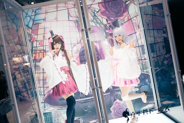コミケC91コスプレ_えなこ 『真空管ドールズ』高槻姫/くろねこ 『真空管ドールズ』エモ1
