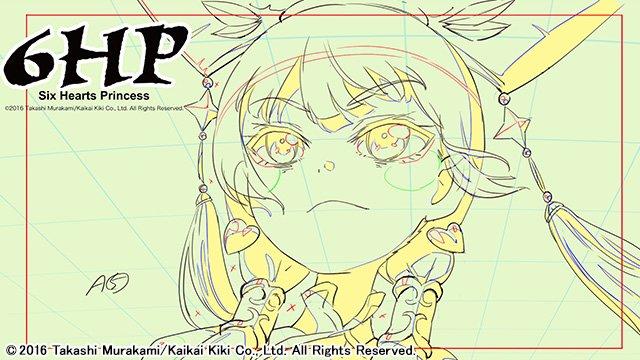 TVアニメ『6HP』後半は村上隆の謝罪 線画状態で12月30日に放送