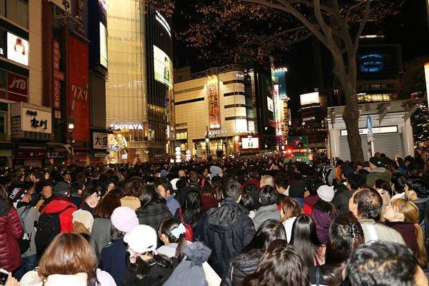 渋谷の2017年カウントダウン画像