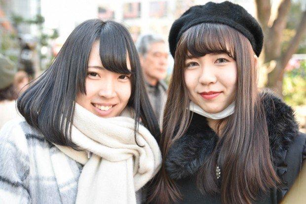 バレンタインデーの渋谷の美女たち