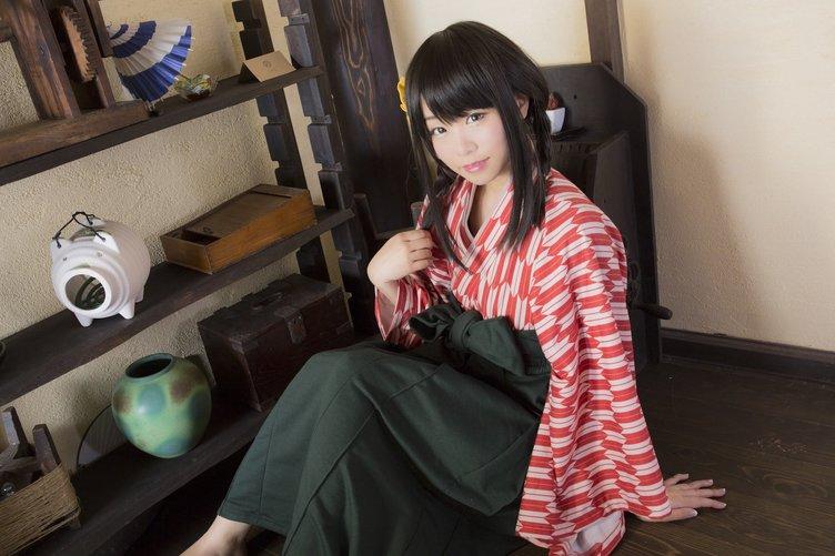 大正ロマンな袴型ルームウェア♡ モデルはコスプレイヤー くろねこ