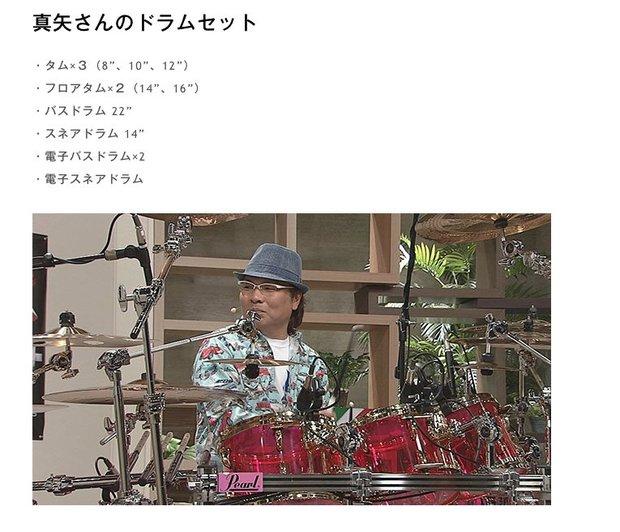 真矢さんのドラムセット/画像はおもラボの公式サイトより
