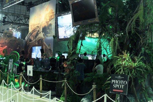幕張メッセに突如ジャングルが現れる、これがカプコンブースだ