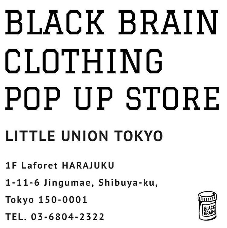 ユースのインフルエンスブランド BLACK BRAIN clothingが再び原宿に