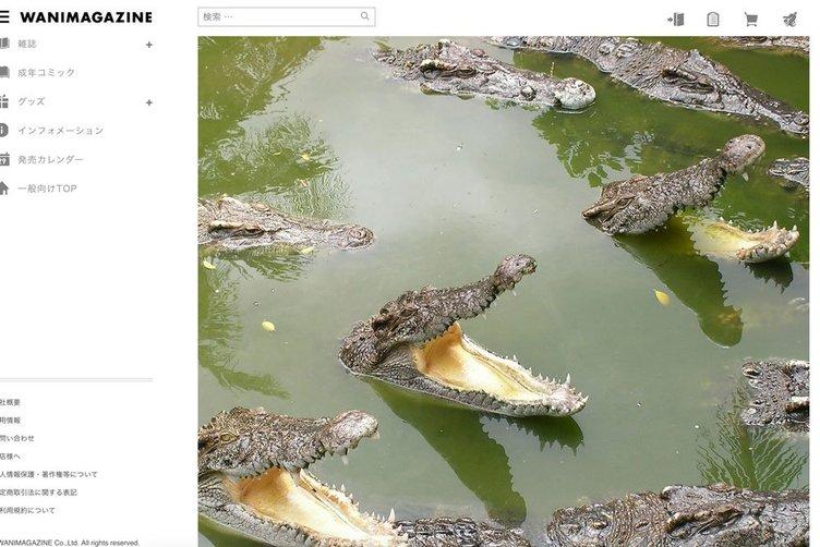 天才かな?『快楽天』のワニマガジン、公式サイトの画像を全部ワニにすり替える謎技術を実装