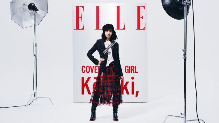 木村拓哉の娘Kōki,が『ELLE』映像でヒロイン 凛々しくも可愛い笑顔を見せる