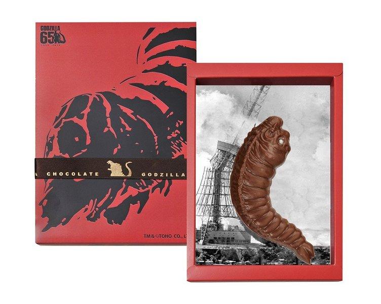 モスラ(幼虫)の鳴き声が聴こえてきそうなチョコ バレンタインにどうぞ