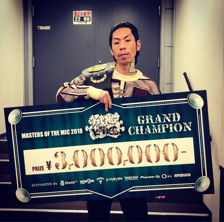 日本一のMCを決める「KOK 2018」 優勝は呂布カルマ 決勝でRAWAXXXを下す