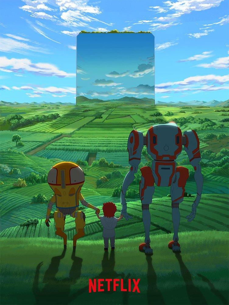 NetflixオリジナルSFアニメ『エデン』 ロボットが女の子と佇む印象的なビジュアル