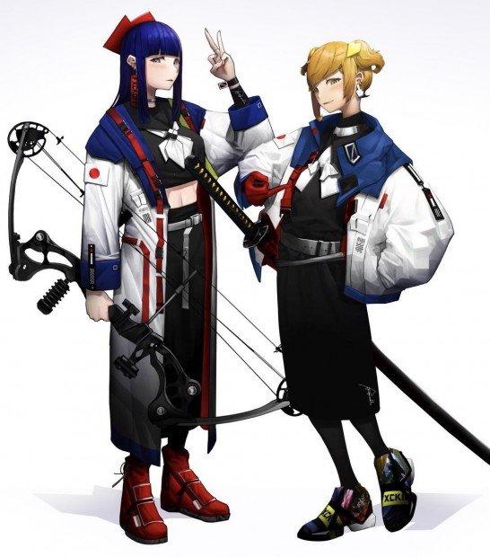 Team Epic(右・ultra pop子/左・ultra pipi美)
