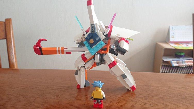 熱さ全開! LEGOで『プロメア』マトイテッカーを再現、ガロも搭乗可