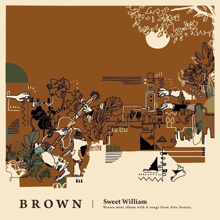 Sweet William、EP『Brown』発売 ドイツからの客演を迎えた意欲作
