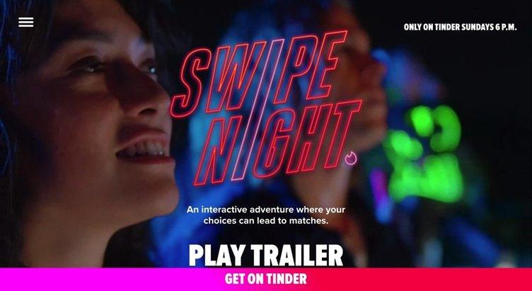 Tinderの参加型アプリ「Swipe Night」 地球滅亡シナリオの選択でマッチング