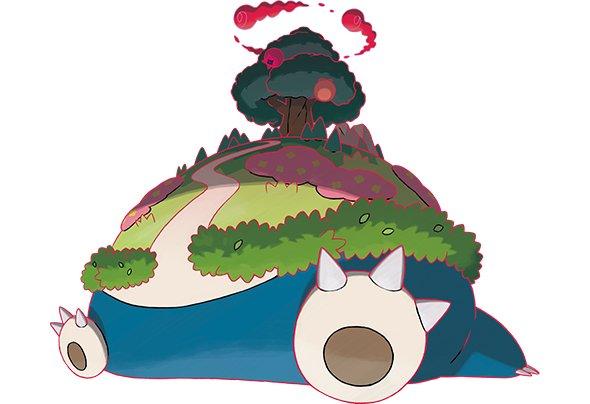 『ポケモン剣盾』カビゴンがキョダイマックス! お腹から木が生える