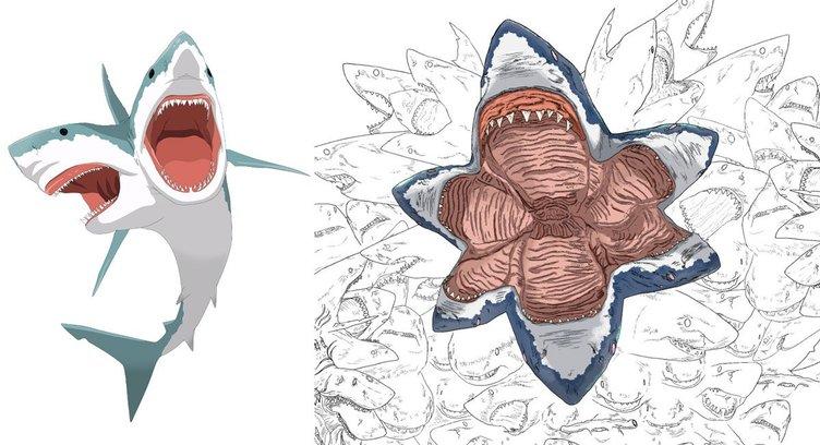 バーチャルサメ人間の狂気 Twitterで増殖続けるサメの恐ろしくも美しい姿