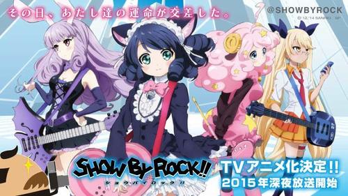 サンリオの萌え萌えスマホゲーム『SHOW BY ROCK!!』がアニメ化決定