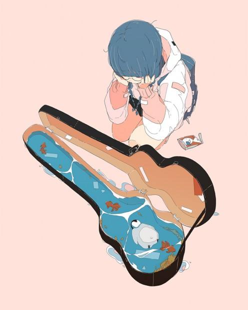 「消えたギターと新たな住人」/ダイスケリチャード 描き下ろし作品