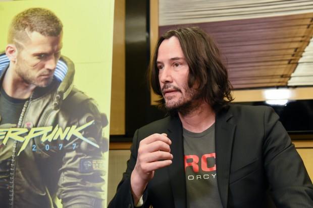 「東京ゲームショウ2019」の『サイバーパンク2077』ブースに登場したキアヌ・リーブスさん