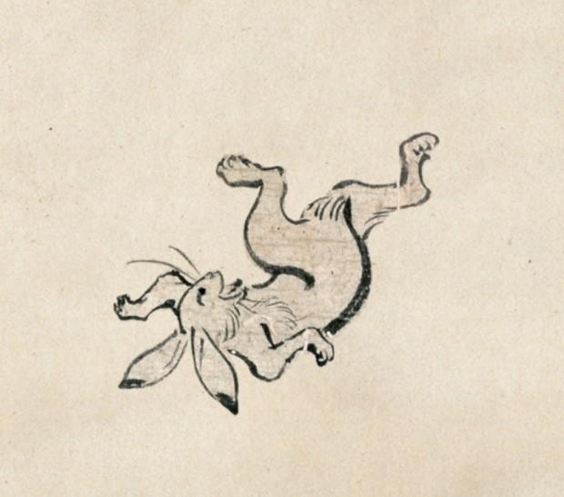 鳥獣戯画のウサギ