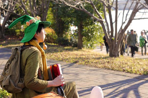 【C89】冬コミのコスプレイヤー ひか子さん(『楽しいムーミン一家』スナフキン)2
