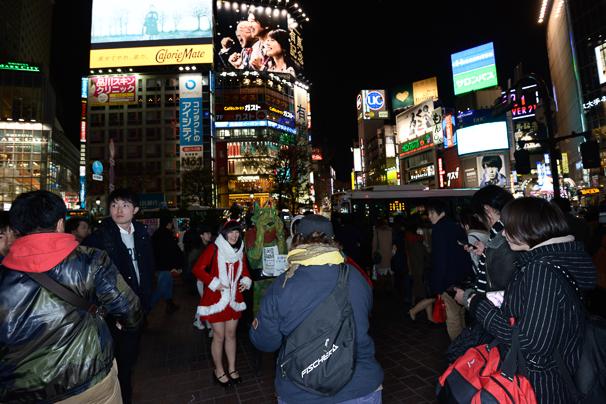 2015年渋谷のクリスマスの様子6