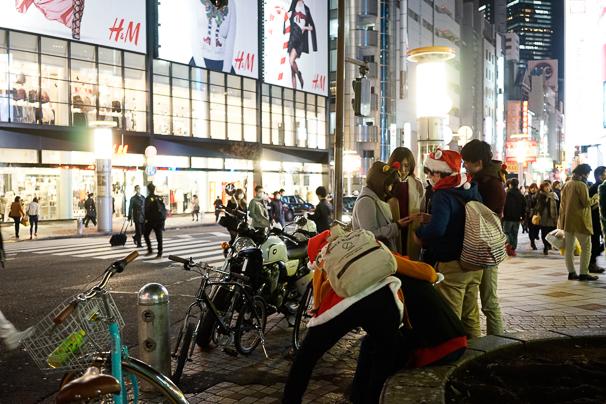 クリスマスの渋谷ドン・キホーテ前